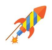 玩具火箭例证 免版税库存照片