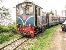 玩具火车在大吉岭印度 免版税图库摄影
