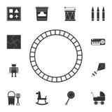 玩具火车用栏杆围象 详细的套玩具象 优质图形设计 其中一个网站的汇集象,网络设计,暴民 库存例证