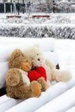 玩具熊为情人节 免版税库存图片