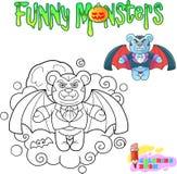 玩具熊吸血鬼,滑稽的例证彩图 库存照片