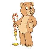 玩具熊甜点 库存图片