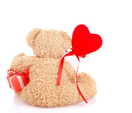 玩具熊的后部 免版税库存图片