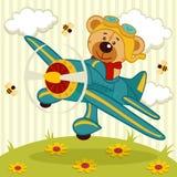 玩具熊飞行员 免版税库存照片