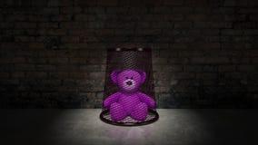 玩具熊-虐待儿童的概念 免版税库存图片
