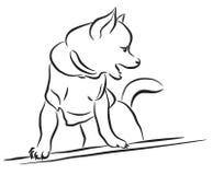 玩具狗剪影 库存图片