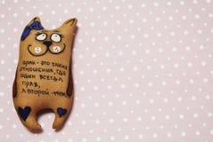 玩具猫 免版税图库摄影