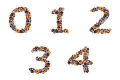玩具的五颜六色的字母表 库存图片