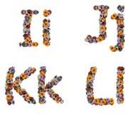 玩具的五颜六色的字母表 免版税库存照片