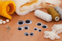 玩具缝合的毛皮 库存图片