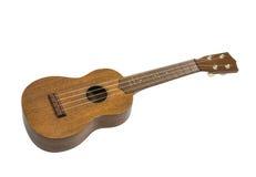 玩具被隔绝的吉他尤克里里琴 免版税库存图片