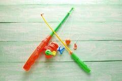 玩具钓鱼竿 图库摄影