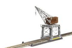 玩具铁路起重机 库存图片