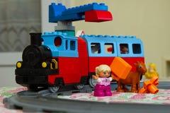 玩具颜色设计师,火车 免版税库存图片