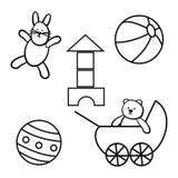 玩具,集合 免版税库存图片