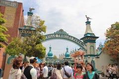 玩具Ville东京迪士尼海洋游乐园的台车公园 免版税库存图片