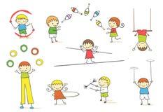 玩杂耍的孩子 向量例证