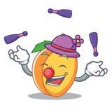 玩杂耍的杏子吉祥人动画片样式 免版税图库摄影