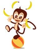 玩杂耍的猴子 库存例证