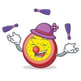 玩杂耍的西番莲果吉祥人动画片 免版税库存照片