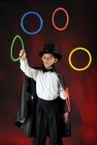 玩杂耍的魔术师 库存照片