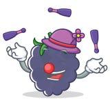 玩杂耍的黑莓吉祥人动画片样式 库存图片