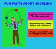 玩杂耍 向量例证