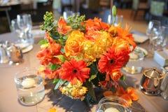 玫瑰、大丁草和康乃馨 免版税图库摄影