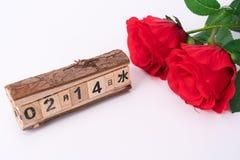 玫瑰为华伦泰` s天 免版税图库摄影