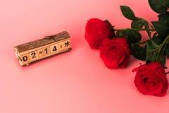 玫瑰为华伦泰` s天 库存图片