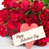 玫瑰为情人节 库存照片
