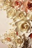 玫瑰做ââof纸张 库存照片