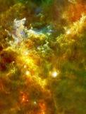 玫瑰华饰星云的大婴孩提高了宇宙从美国航空航天局/ESO的象元|星系背景墙纸 库存例证