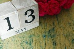 玫瑰和日历 库存图片