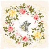 玫瑰和蝴蝶 皇族释放例证