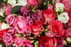 玫瑰巨大的花束  库存图片