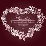 玫瑰或牡丹花花圈与土气红色、褐色、巧克力和淡粉红的颜色 花卉框架设计元素为 皇族释放例证