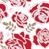 玫瑰无缝的样式 库存照片