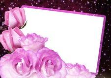 玫瑰框架 免版税图库摄影