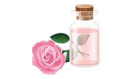 玫瑰油,水 免版税库存图片