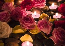 玫瑰温泉 免版税库存照片