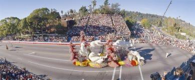 玫瑰游行,帕萨迪纳,加利福尼亚的109th比赛 免版税库存照片