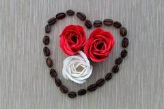 玫瑰用咖啡 库存照片