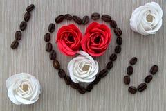 玫瑰用咖啡 图库摄影