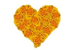 从玫瑰的心脏。 免版税库存图片