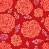 玫瑰红的绘画颜色明亮的无缝的样式 免版税图库摄影