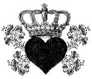 玫瑰耶稣受难象设计冠玫瑰心脏 库存照片