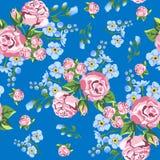 玫瑰背景 无缝的模式 库存照片