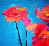 玫瑰色和蓝天花,绘 皇族释放例证