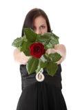 玫瑰色妇女 免版税库存照片